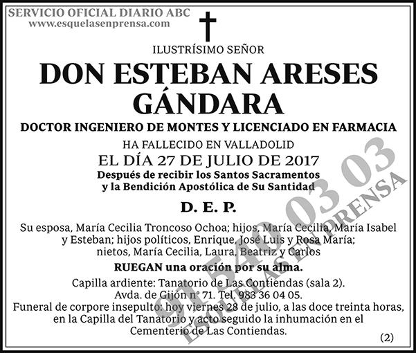 Esteban Areses Gándara
